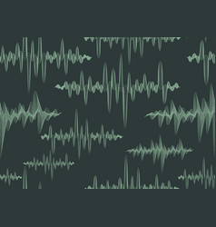 abstract ornate sound waves seamless pattern vector image vector image
