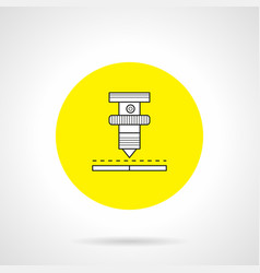 high precision welding round icon vector image vector image