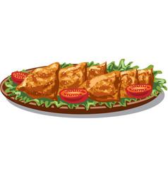 indian food samosas vector image