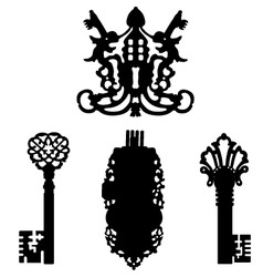 key silhouettes vector image