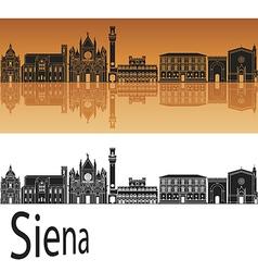Siena skyline in orange vector image