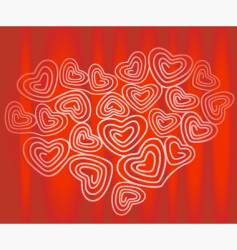 tangled heart vector image