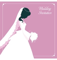 Fashion Silhouette Bride Girl vector image