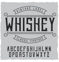 Label font and sample label design vector