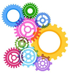 Modeling bright gear wheels background vector image