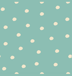 seamless pattern with falling snowflakes and dots vector image vector image