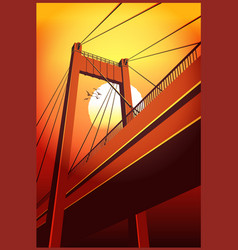 cable-stayed bridge vector image vector image