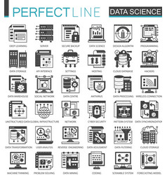 Data science technology classic black mini concept vector