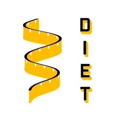 Diet - a symbol of a of a measuring tape vector image