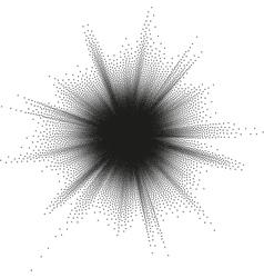 Halftone Star Big Bang EPS 10 vector image vector image