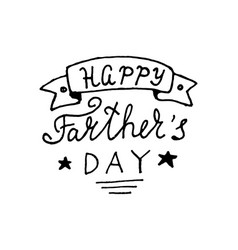 happy fathers day lettering design vector image vector image