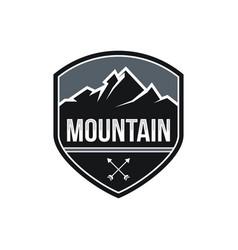 Mountain expeditions logo design vector