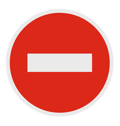 no entry icon flat style vector image