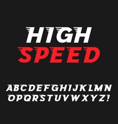Speed dynamic italic font vector