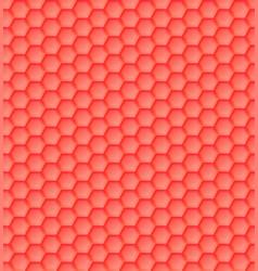 3d seamless geometric orange pattern hexagons vector image