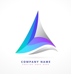 abstract business symbol design vector image