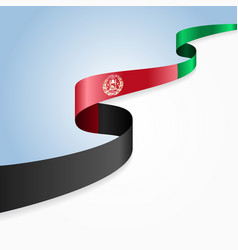 Afghanistan flag wavy abstract background vector