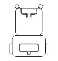 Backpack the black color icon vector