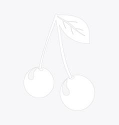 Berry cherry vector
