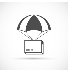 Box on a parachute icon vector image