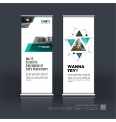 Business set of modern roll Up Banner stand vector image