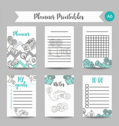 Calendar daily and weekly planner template note vector