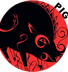 Chinese Horoscope pig vector