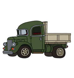 Classic green lorry vector