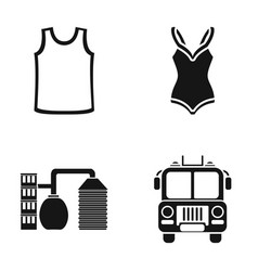 clothing sports and or web icon in black style vector image