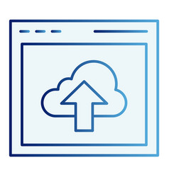 cloud computing download flat icon data server vector image