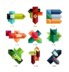 Collection of colorful business geometric shapes vector image