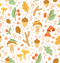 Colorful autumn treasures pattern vector image