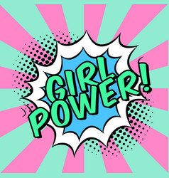 comics with speech bubble and slogan girl power vector image