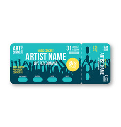 concert ticket template party disco vector image