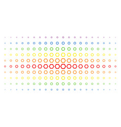 Contour hexagon spectral halftone effect vector