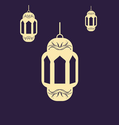 Decorative lamp for ramadhan vector