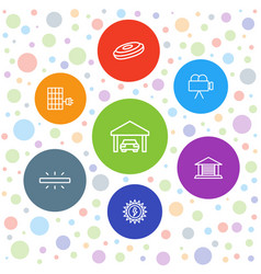 Detail icons vector