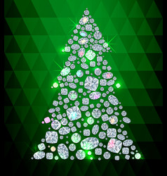 Diamond tree vector image