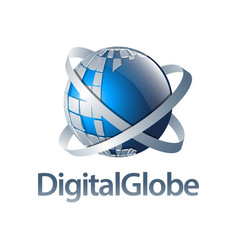digital globe blue sphere logo concept design vector image