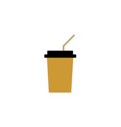 drink cup logo vector image