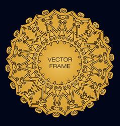 elegant golden frame vector image