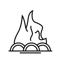 Firewood line icon concept sign outline vector