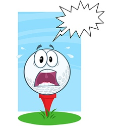 Funny golf ball expressions vector image