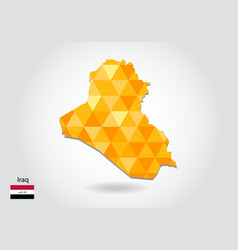 geometric polygonal style map of iraq low poly vector image
