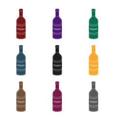 glass bottle of vodka icon in black style isolated vector image