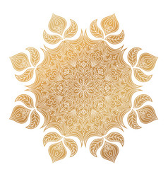 Golden mandala ornament vector