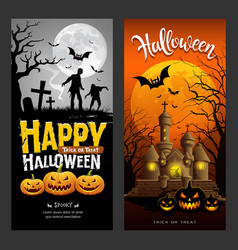 Halloween banners vertical collections design vector