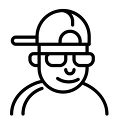 Hiphop man icon outline style vector