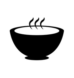 hot food bowl icon vector image