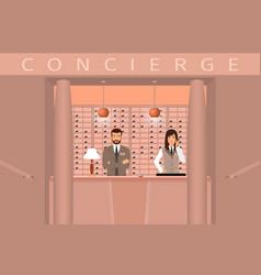 hotel concierge service front view of concierge vector image